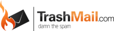 Logo with TrashMail.com and slogan